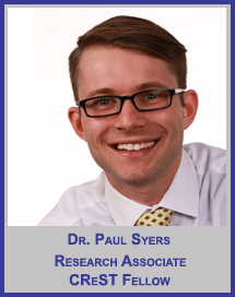Dr. Paul Syers</p>Research Associate</p>CReST Fellow