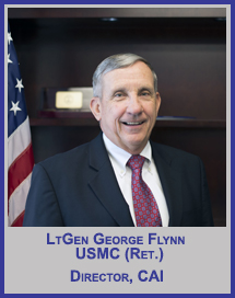 LtGen George Flynn, USMC (Ret.)</p>CAI Director</p>Member, Board of Regents