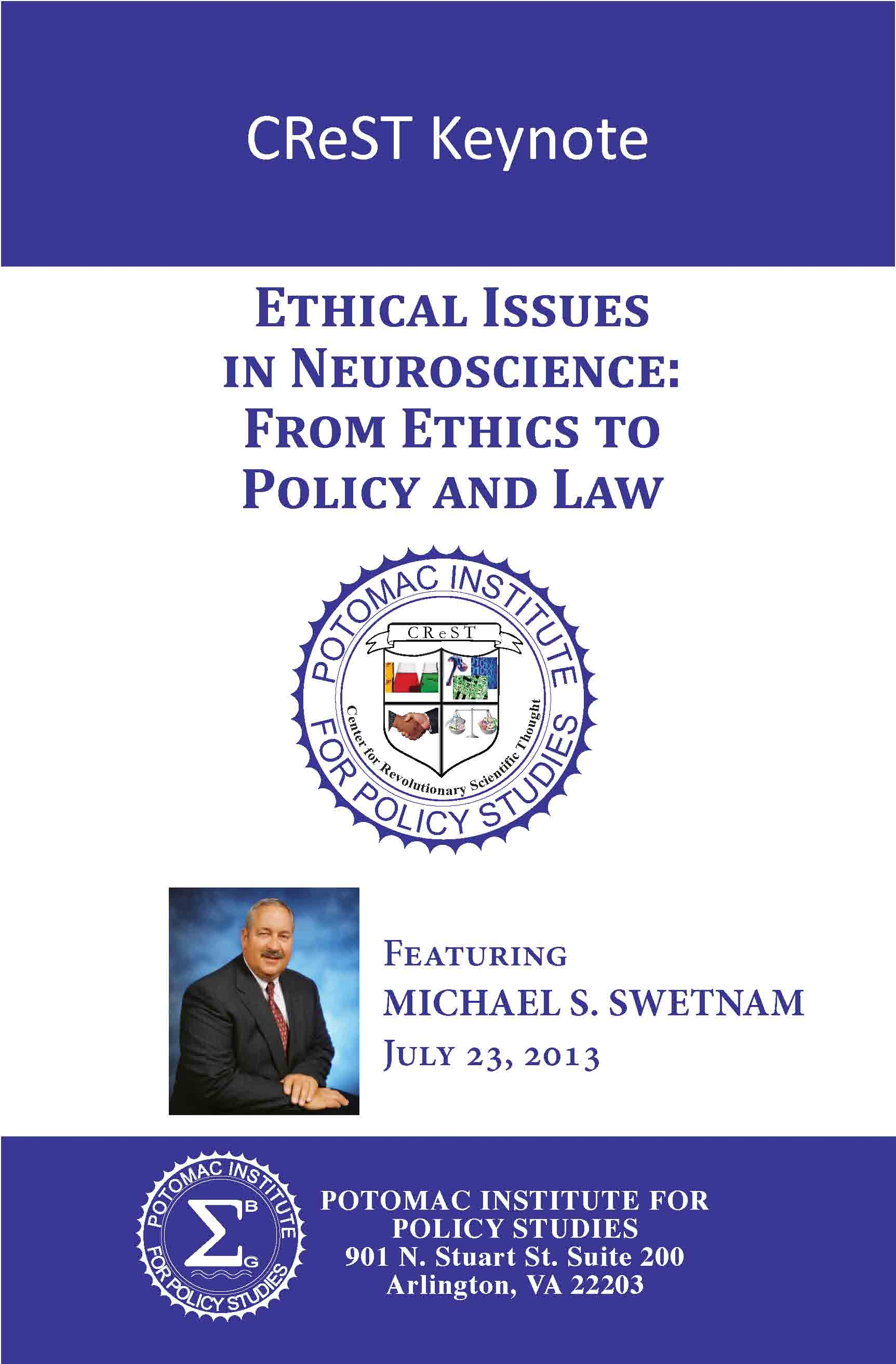CreST Keynote - Ethical Issues in Neuroscience: From Policy to Science and Law