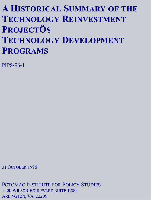 A Historical Summary of Technology Reinvestment Project's Technology Investment Programs